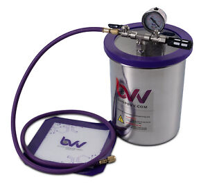 Bvv 1 5 Gallon Tall Stainless Steel Vacuum Degassing Chamber