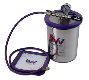 Best Value Vacs 1 5 Gallon Tall Stainless Steel Vacuum And Degassing Chamber
