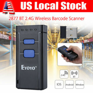 Mj 2877 Portable Wireless Btooth Barcode Laser Scanner For Apple Ios Android