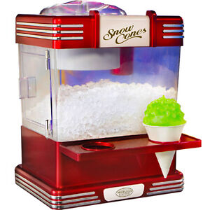 Mini Snow Cone Maker Shaved Ice Snowcone Machine Nostalgia Electrics Rsm 602