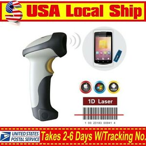 Alanda Ct10 Barcode Scanner Code Reader Wireless Bluetooth For Iphone 6 Android