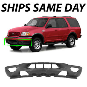 Textured Front Bumper Valance Expedition For 1999 2002 Ford F150 Tow fog Holes