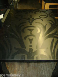 Retail Black Tribal Pattern Display Table