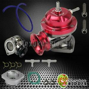Universal Adjustable Type Rs Turbo Bov Blow Off Valve 2 5 Flange Mount Red