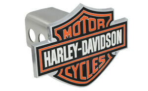 Harley Davidson Trailer Tow Hitch Cover Plug With 3d Colored Bar Shield