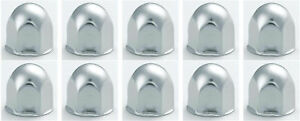 10 Stainless Steel Rounded Lug Nut Covers For 1 Lug Nuts