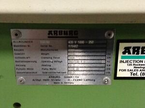Arburg 110 Ton Injection Molding Machine 420v 1000 350 Used 70387