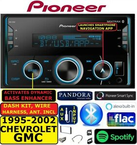 95 02 Gm Truck suv Usb Ipod Iphone Aux Bluetooth Double Din Car Stereo Radio