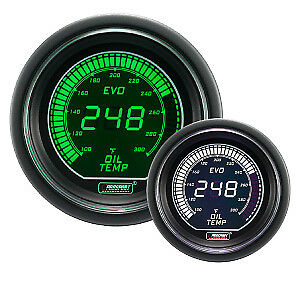Prosport Evo Series Electrical Oil Temperature Gauge Green White