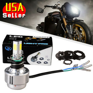 1pc H4 Hb2 9003 24w Motorcycle Led Headlight High Low Beam White Bulbs Hot Sale