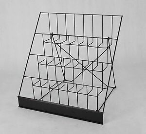 Wire Rack Brochure Rack Tabletop Literature Display Open Shelves Seeds Rack