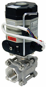 1 Electric Actuated Ball Valve 24 Vac Stainless Steel new