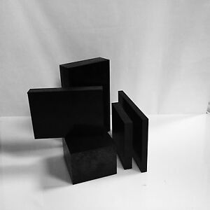 1 25 Black Delrin Acetal Plastic Sheet Priced Per Square Foot Cut To Size