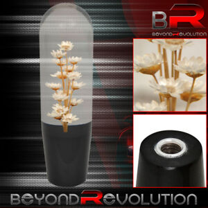 150mm Universal Clear White Flower Filled Manual Gear Stick Drift Shift Knob Jdm