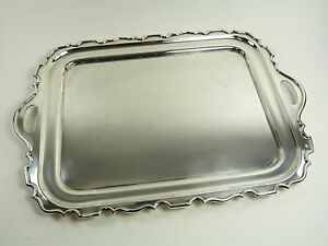 Walker Hall Silver Plate Serving Drinks Tray 20