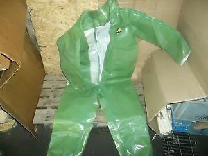 Green Hazmat Chemical Suit Training Puposes Only Size Xl free Shipping
