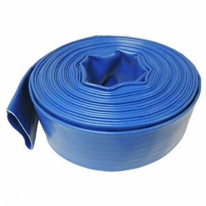 6 X 100 Agricultural Grade Pvc Layflat Hose For Water Discharge Or Backwash