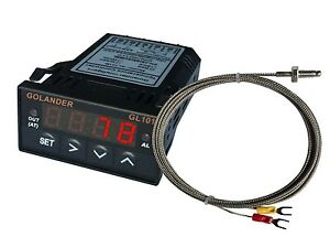 24v Dc 1 32din Digital Pid Temperature Controller Red With K Thermocouple
