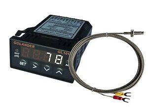 24v Dc 1 32din Digital Pid Temperature Controller White With K Thermocouple