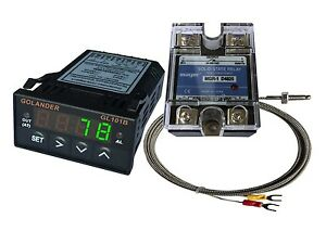 24v Dc 1 32din Pid Temperature Controller Green 25a Ssr K Thermocouple