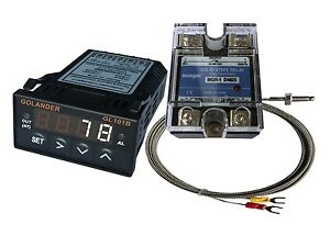 24v Dc 1 32din Pid Temperature Controller White 25a Ssr K Thermocouple