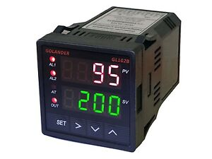 12v Dc Digital Pid F c Temperature Controller With 2 Alarm Relays 1 16 Din