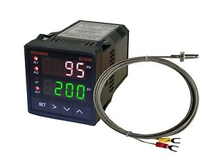12v Dc Dual Display Digital Pid F c Temperature Controller With K Thermocouple