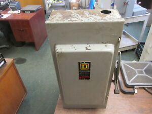 Square D Fusible Safety Switch Disconnect H324n 200a 240v 3ph Used