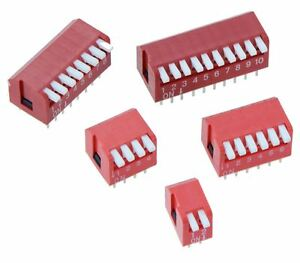 Piano Dip Dil Red Pcb Switch 2 4 6 8 10 Poles