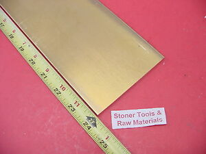1 4 X 4 C360 Brass Flat Bar 24 Long Solid 250 Mill Stock H02 250 Thick