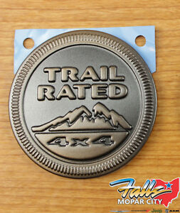 Jeep Wrangler 75th Anniversary Edition 4x4 Trail Rated Emblem Badge Oem