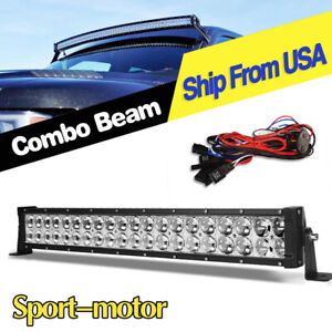 24inch 280w Led Light Bar Curved Spot Flood Offroad Jeep Truck 4wd Atv Boat 22