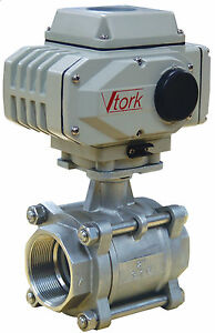 2 Electric Actuated Ball Valve 120 Vac Stainless Steel new