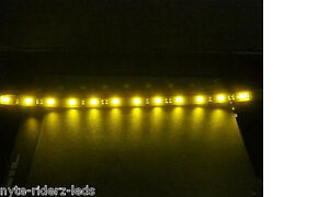 Yellow 12 5050 Smd Led 2 Strips Chevrolet All Models Total 24 Led 5050smd Leds