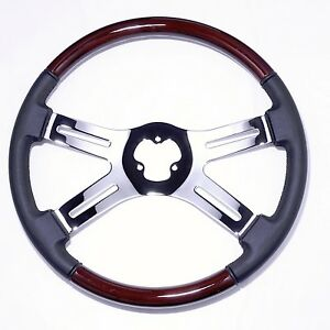 4 Spoke 18 Combo Classic Steering Wheel 3 hole For Freightliner Peterbilt Kw
