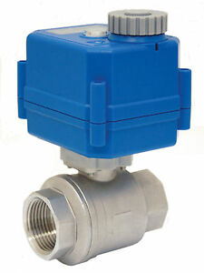 1 Electric Actuated Ball Valve 110 Vac Stainless Steel new