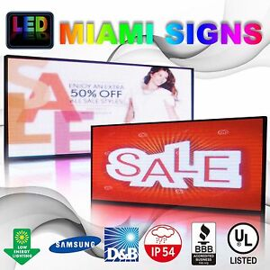 Full Color Led Sign Size 28 X 66 Double Sided Programmable Message Outdoor Usa