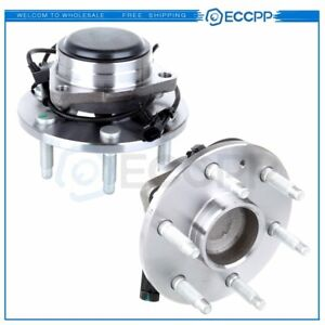 New Front Wheel Bearing Hub Assembly Pair Set For Chevy Gmc Pickup Truck 2wd