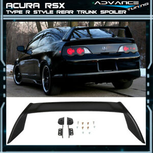 02 06 Acura Rsx Dc5 Type R Tr T R Style Trunk Spoiler Unpainted Abs Matte Black
