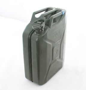 Ex German Army 20l Jerry Can Gas Fuel Can Metal 20 Litre Storage 5 Gallon