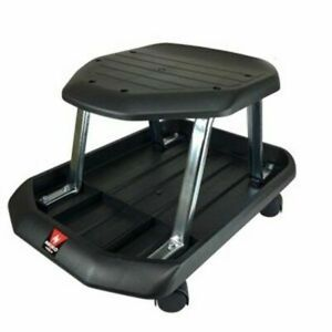 Professional Shop Seat Rolling Stool With Monster Tray