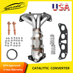 Exhaust Manifold W Catalytic Converter 2 5l For 02 06 Nissan Altima Sentra Epa