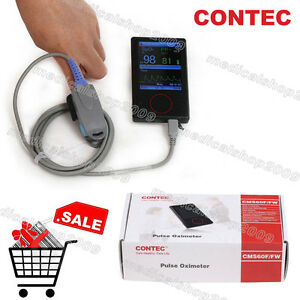 New contec Pulse Rate Spo2 Oximeter Cms60f Pulse Waveform Display Touch Screen