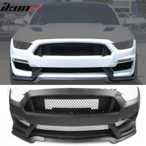 Fits 15 17 Mustang Gt350 Style Front Bumper Conversion Polypropylene Oe Material