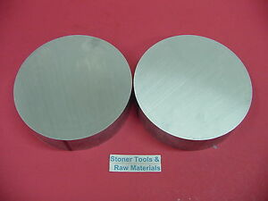 2 Pieces 6 Aluminum 6061 Round Rod 1 Long T6 6 00 Diameter Lathe Bar Stock