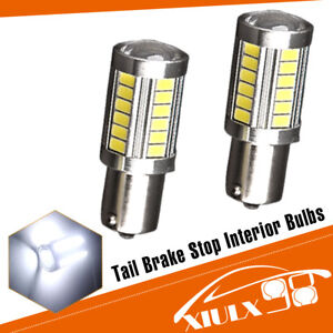 2x White 1156 High Power 5630 33smd Led Backup Reverse Light Bulbs 1073 1141