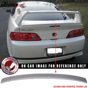 Fits 02 06 Rsx Aspec Trunk Spoiler Type R Deck Lid Satin Silver Metallic nh623m