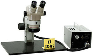 Olympus Sz40 Stereozoom Inspection Microscope W fiber Optic Illuminator Tag o236
