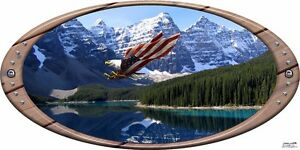 Mountain Eagle Oval Decal Camper Rv Motor Home Mural Graphic