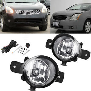For Nissan Infiniti Clear Lens Bumper Fog Lights Driving Lamps W Wiring